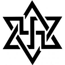Jewish Nazi Star of David Die Cut Decal