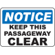 Keep Area Clear Signs and Decals 03