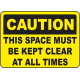Keep Area Clear Signs and Decals 04