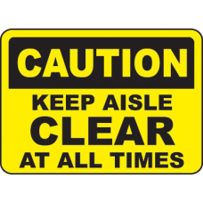 Keep Area Clear Signs and Decals 07