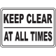 Keep Area Clear Signs and Decals 08