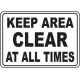 Keep Area Clear Signs and Decals 09
