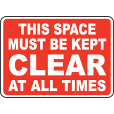 Keep Area Clear Signs and Decals 10