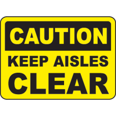 Keep Area Clear Signs and Decals 11