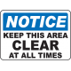 Keep Area Clear Signs and Decals 12