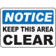 Keep Area Clear Signs and Decals 13