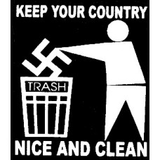 keep your country clean diecut decal