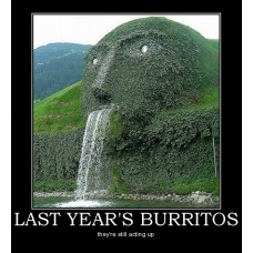 last years burritos neat sculpture