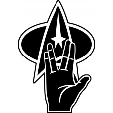 Live_Long_Prosper_Spock star trek decal with logo