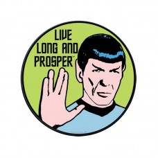 Live Long Spock Color Star Trek Round Sticker