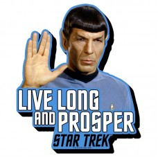 Live Long Spock Color Star Trek Sticker