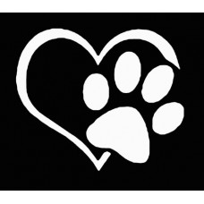 Love Dogs Die Cut Vinyl Car Decal