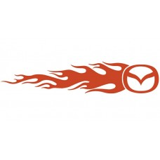 Mazda Auto Flame Side Graphics (Pair)