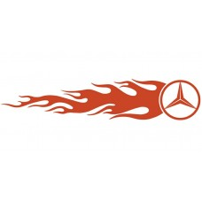 Mercedes Auto Flame Side Graphics (Pair)