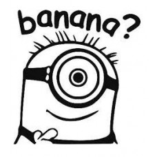 Minion Banana Decal 2
