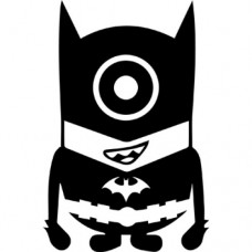 Minion Batman Die Cut Car Decal
