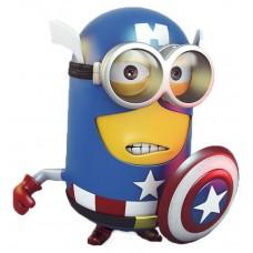 Minion Captian America Sticker