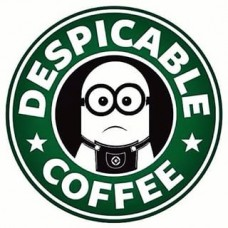 Minion Coffee Sticker