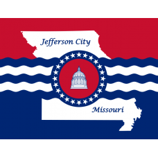 Missouri Jefferson City Flag Decal
