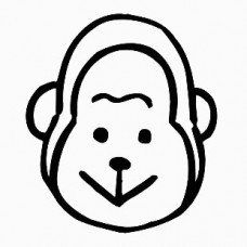 Monkey Face Die Cut Car Decal Sticker