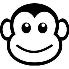 monkey face funny vinyl decal sticker 5