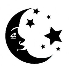 Moon and Stars Decal Sticker