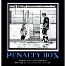 penalty box 2min time out ice hockey demotivational