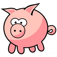 PIG CARTOON STICKER 7