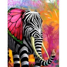 psychedelic animals car window or wall decal 1