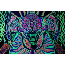 psychedelic animals car window or wall decal 2