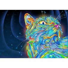 psychedelic animals car window or wall decal 4