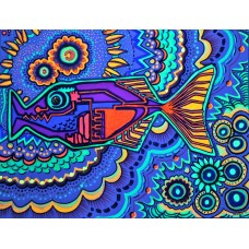 psychedelic animals car window or wall decal 5