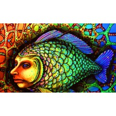 psychedelic animals car window or wall decal 6