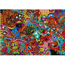 psychedelic art stickers wall decal 01