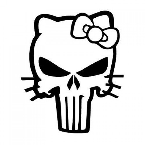 PUNISHER with BOW decal sticker CHOOSE COLORS die cut vinyl