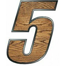 One Digit - WOODGRAIN Race Number Kit