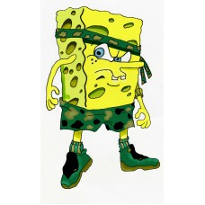 Rambo Spongebob sticker