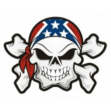 Rebel Skull and Crossbones Sticker