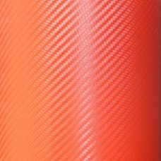 Carbon Fiber Adhesive Vinyl Sheet Decal RED