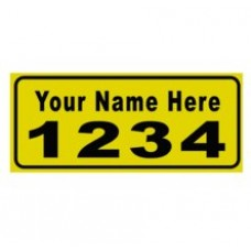- Reflective Mailbox Address Decals (Pair)