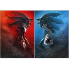 Shadow and Sonic sticker 66