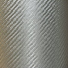 Carbon Fiber Adhesive Vinyl Sheet Decal SILVER