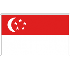 Singapore Flag Sticker