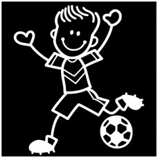 Soccer Stick Boy Decal
