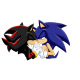 sonic and shadow love sticker
