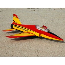 Spar Red Black and Yellow RC Model Sticker