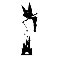 Tink Over Disney Castle Decal Stickerastle