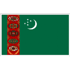 Turkmenistan Flag Sticker