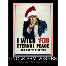 uncle sam wishes christmas happy new year