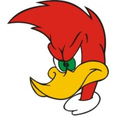 woody woodpecker angry mean sticker
